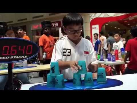 Sport Stacking: Singapore Nationals 2015 - Day 1