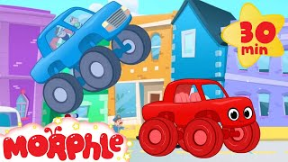 The Sticky Truck Chase With Morphle! Truck video for kids. (animation cartoon)