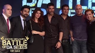 Akshay Kumar and Twinkle Khanna at Battle of Da Sexes | November 23, 2014 | AGP