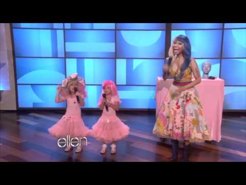 Nicki Minaj Performs With Mini Minaj on Ellen Music Videos