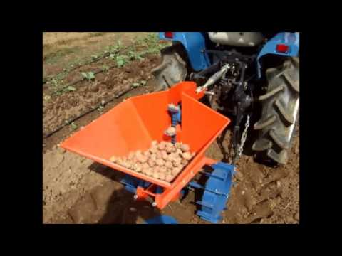 Automatic Potato Planter 1linha For Tractors Of 12 Hp To