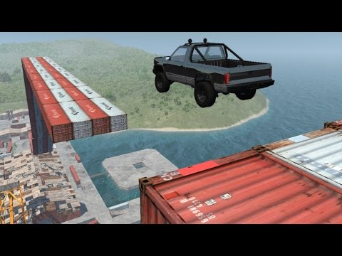 BeamNG.drive - Port Stunts + Conquer The Mountain