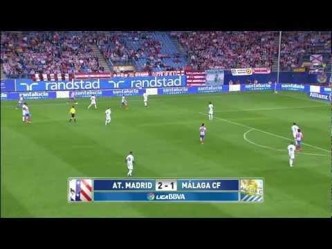 La Liga | Atlético de Madrid - Málaga CF (2-1) | 07-10-2012 |J7