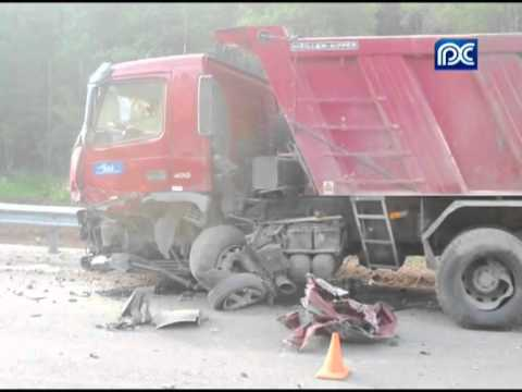 ДТП на трассе Москва-Архангельск Road accident on the route Moscow-Arkhangelsk