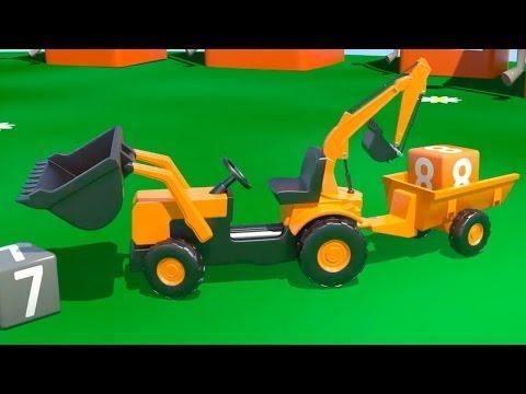 Çizgi film – İş Makineleri – Multi Traktör Sayılar öğreniyoruz
