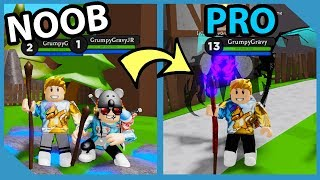 Noob To Pro Challenge in Roblox Wizard Simulator with my Little Nephew