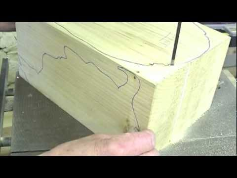Woodcarving Lessons with Ian Norbury. 01 - Preparation and Bandsawing...