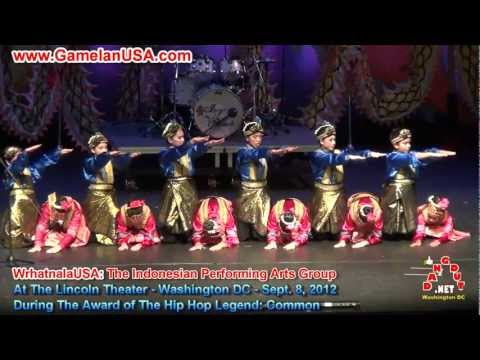 TARI SAMAN INDONESIA DANCE AMERIKA-HIP HOP LEGEND COMMON AWARD EVENT-LINCOLN THEATER WASHINGTON DC