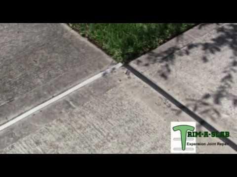 Trim A Slab Driveway Amp Sidewalk Wood Replacement Youtube