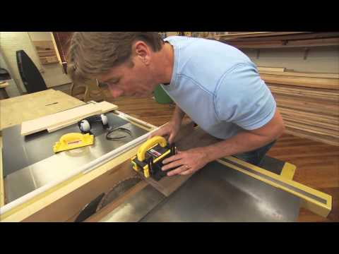 Cutting Thin Strips on a Table Saw with Tommy Mac