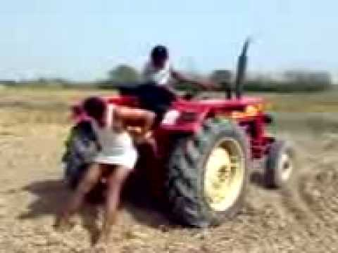 Mahindra Tractor Stunt video