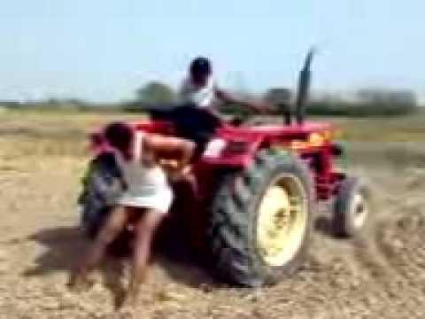 Mahindra Tractor stunt