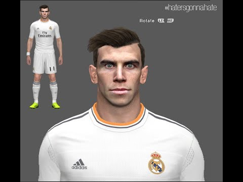 PES 2014 • Gareth Bale New Face & Hair | Real Madrid Download • HD