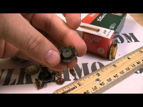 9mm Luger - Sellier and Bellot - 115 Gr. JHP Ammo Test