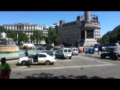 Preparation for London Olympic 2012 - trafalgar square