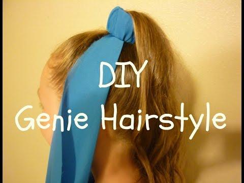 Genie Hairstyle & DIY Genie Costume Headpiece, Halloween Hairstyles