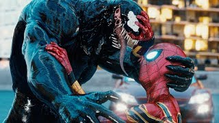 VENOM vs SPIDER-MAN PS4, INTO THE SPIDER-VERSE MILES MORALES & SPIDER-GWEN STACY FIGHT