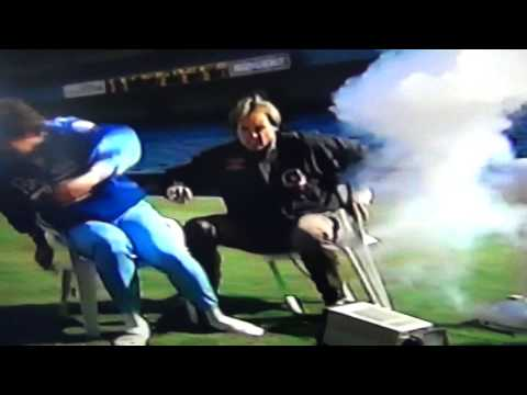 Exploding Television Monitor Scares Kansas City Royal!
