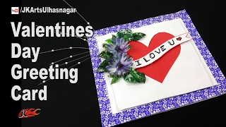DIY How to make valentine's day Greeting Card | JK Arts 1174