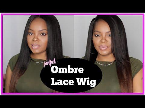 LUXURY BRAZILIAN VIRGIN HAIR COARSE YAKI OMBRE LACE WIGS|PREMIERLACEWIGS.COM