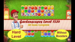 Gardenscapes Level 1235 - No Boosters