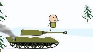 Мультфильм про Танки - Снежная битва. Mult-uroki.ru