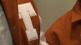 Longhorns receive their letter jackets [Jan. 17, 2014]