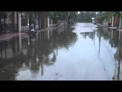 Flooded Street in Rangsit Thailand
