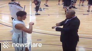 This basketball team have the most epic handshake ritual