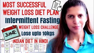 Weight Loss Diet / Meal Plan | Intermittent Fasting | June Weight Loss Challenge | Lose Upto 10kgs