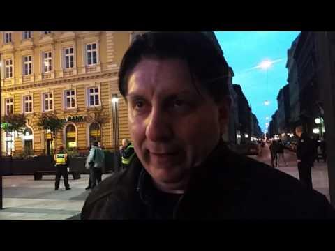 Poszpischek Tamás a Soros- és CEU-ellenes tüntetésen