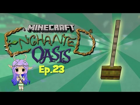 magic Brooms Minecraft Enchanted Oasis Ep 23 video