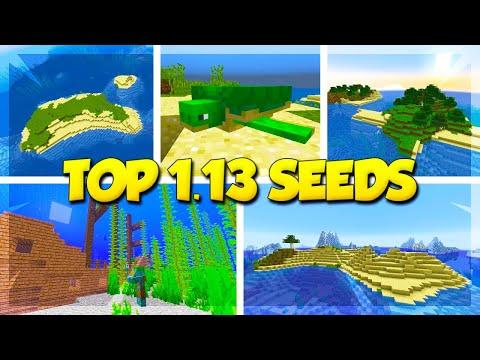 TOP 5 SURVIVAL ISLAND SEEDS for MINECRAFT 1.13! (Minecraft Update Aquatic Seeds)