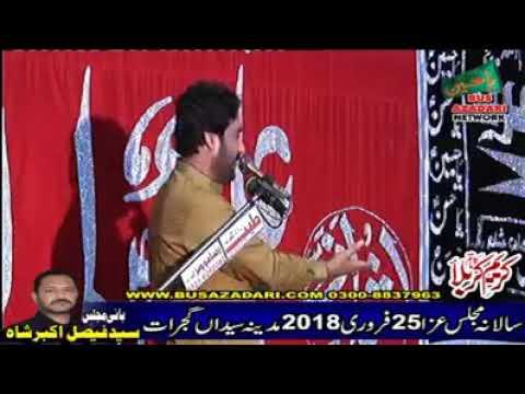 New Zakir Waseem Abbas Baloch 25 Febuary 2018 (Gujrat)