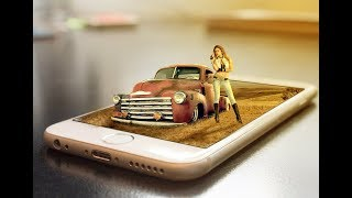 Photoshop Manipulation Tutorial - 3D Pop Out Mobile Manipulation.