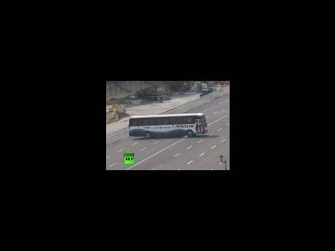 Video of hostage bus drama in Philippines as gunman holds tourists in Manila