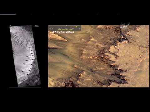 NASA Announces Discovery Of Flowing Water On Mars, Sept  28, 2015