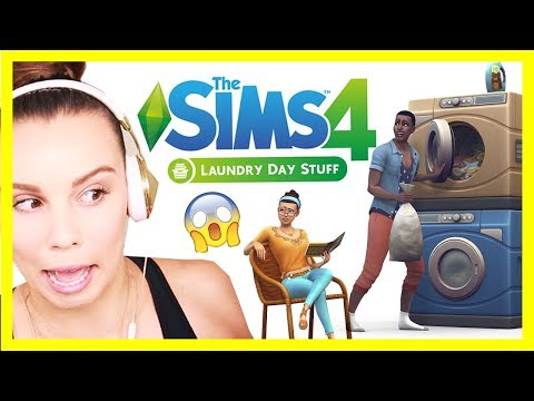 THE SIMS 4 LAUNDRY STUFF PACK REACTION [Full Trailer!]