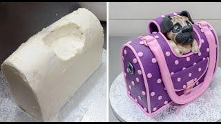 Handbag Style Pet Carrier Cake - How To by CakesStepbyStep