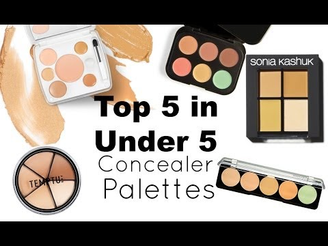 Top 5 in Under 5: Concealer Palettes