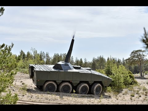 Patria AMV NEMO 120mm Mortar Video