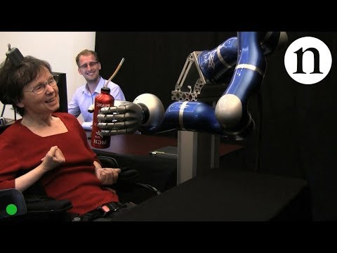 Brain Machine System - Paralysed woman moves robot with her mind - by Nature Video