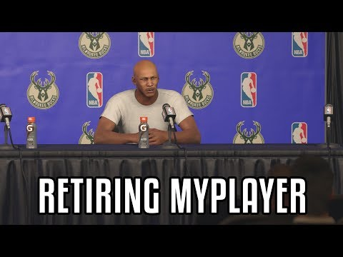 Retiring My First MyPlayer In NBA 2K17! What Happens When You Retire Your MyPlayer?