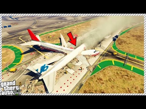 HUGE PASSENGER JET PLANE CRASH ACCIDENT