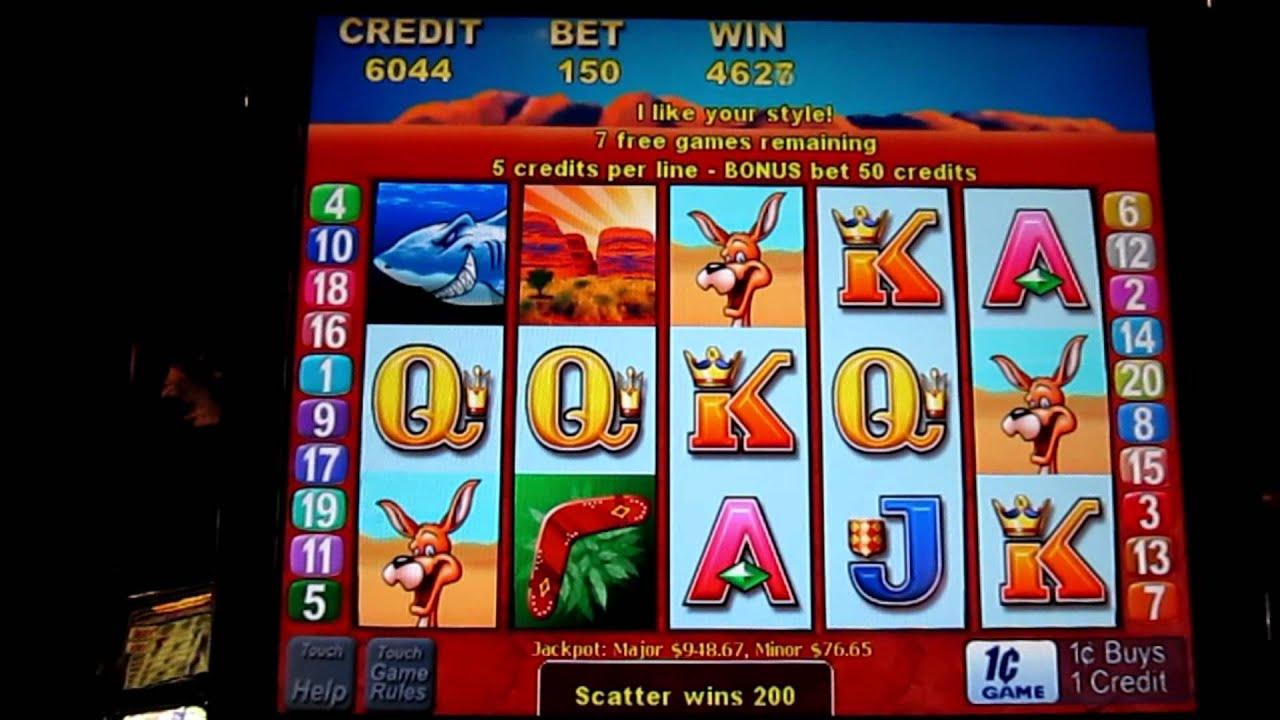 play outback slot machine