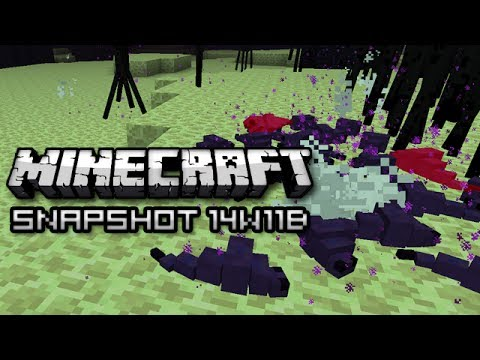 Minecraft: New Endermite Mob Speedy Minecarts and More Snapshot 14w11b