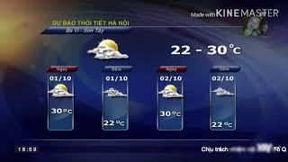 Dự báo thời tiết khu vực hà nội ngày 1/10/2018