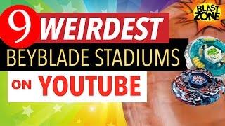 9 Weirdest Beyblade Stadiums on Youtube! Strange Beyblade Burst & MFB Stadiums! ベイブレードバースト 百叶窗