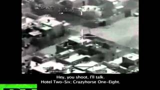 Wikileaks - Collateral murder in Iraq by US helicopter (short video)
