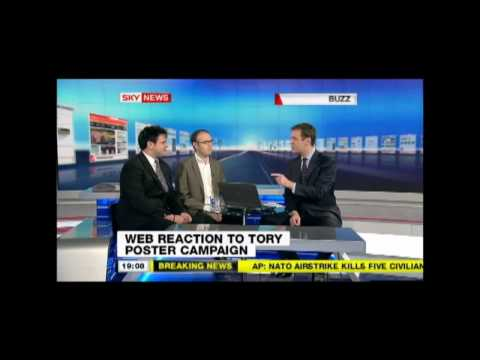 Harry Cole from Tory Bear Vs Clifford Singer from mydavidcameron.com on Sky News